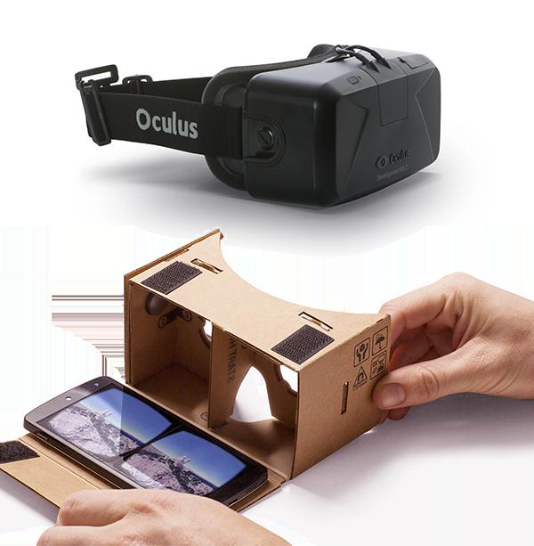 Masque de réalité virtuelle, oculus ou cardboard