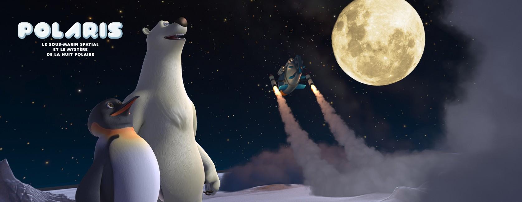 Le sous marin spatial et le mystere de la nuit polaire, Film grand public 3d relief
