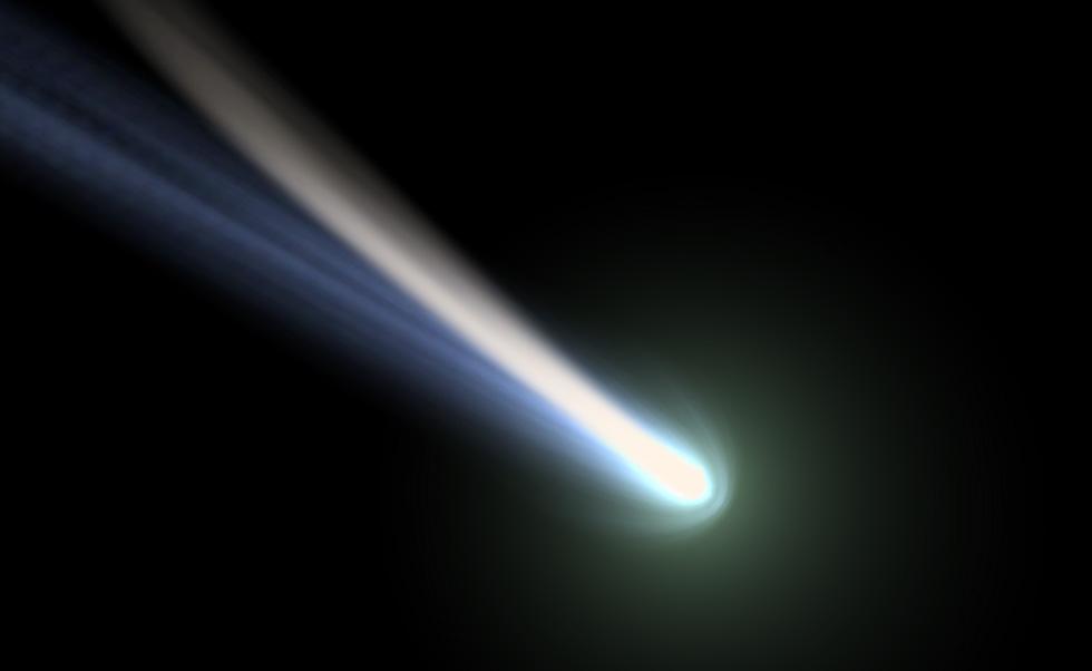image d'une comète pour de la visualisation scientifique