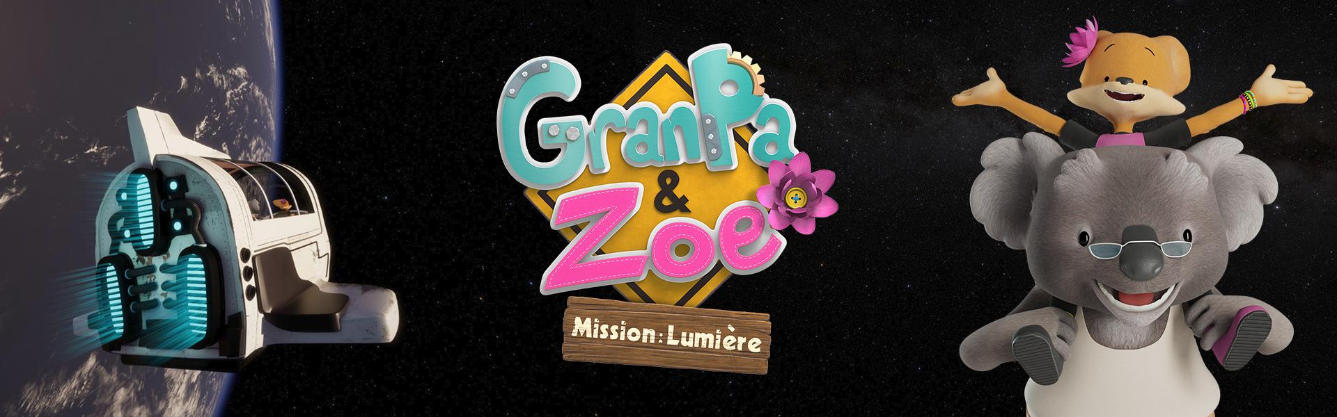 Grandpa & Zoe Mission lumire bandeau