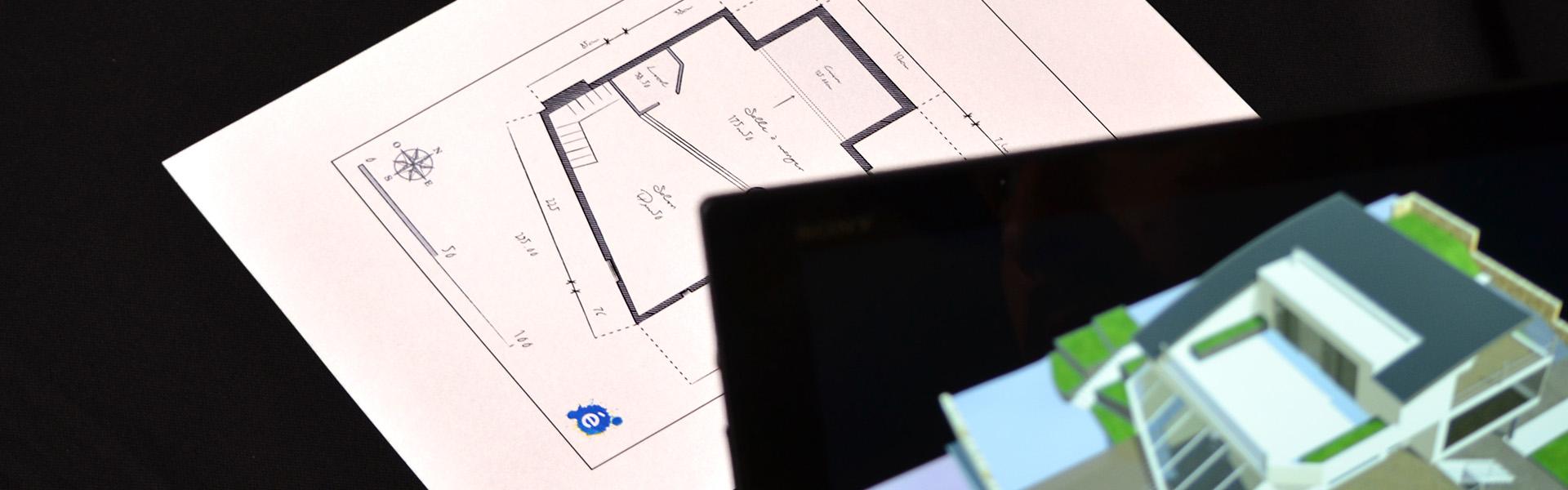 Réalité augmentée pour l'architecture, ex de mise en oeuvre