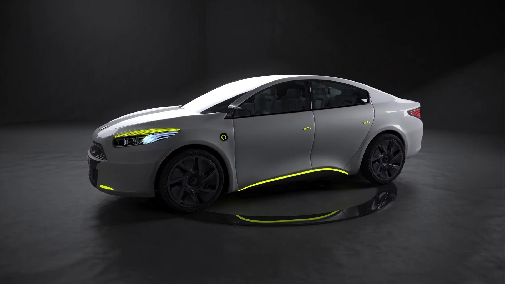 Image de synthèse voiture Renault