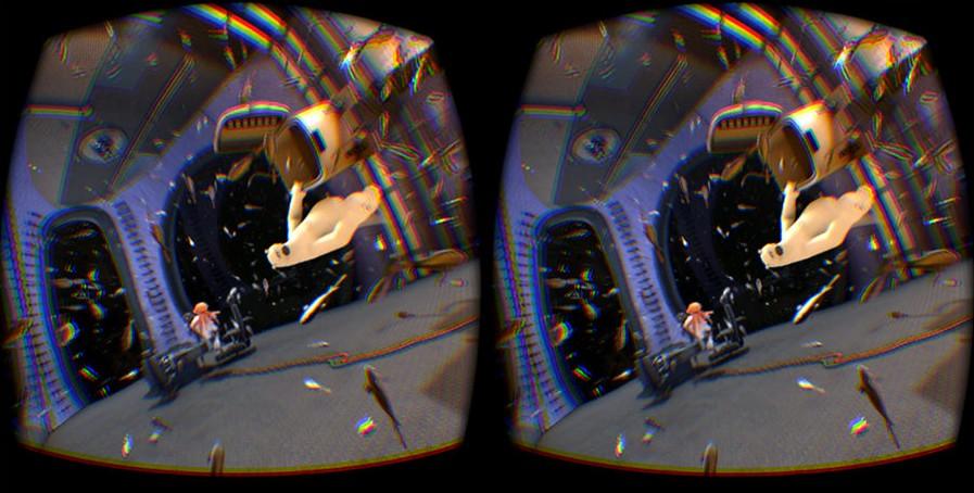vision au travers d'un masque de réalité virtuelle