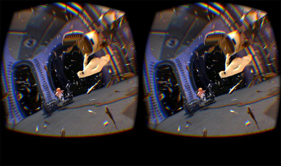 Vision pour chaque œil, dans l'Oculus Rift