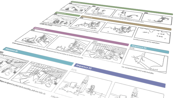 Planche de story-board