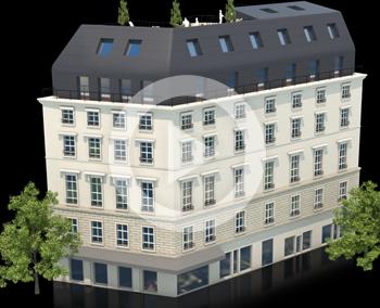 Bâtiment en hologramme – 6ème Sens Immobilier