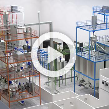 Film 3D de présentation d'une usine – Clextral