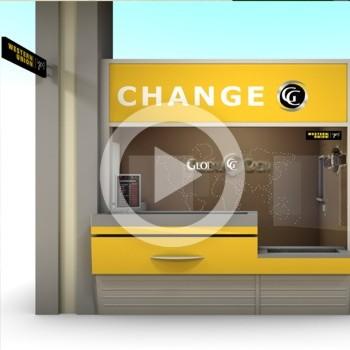 Présentation virtuelle espace de vente 3d : Global Cash