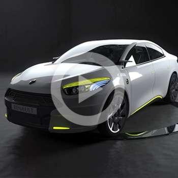 Mise en valeur d'un concept car – Renault Fluence